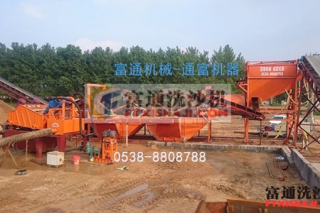江苏连云港大型洗砂机流水线现场案例