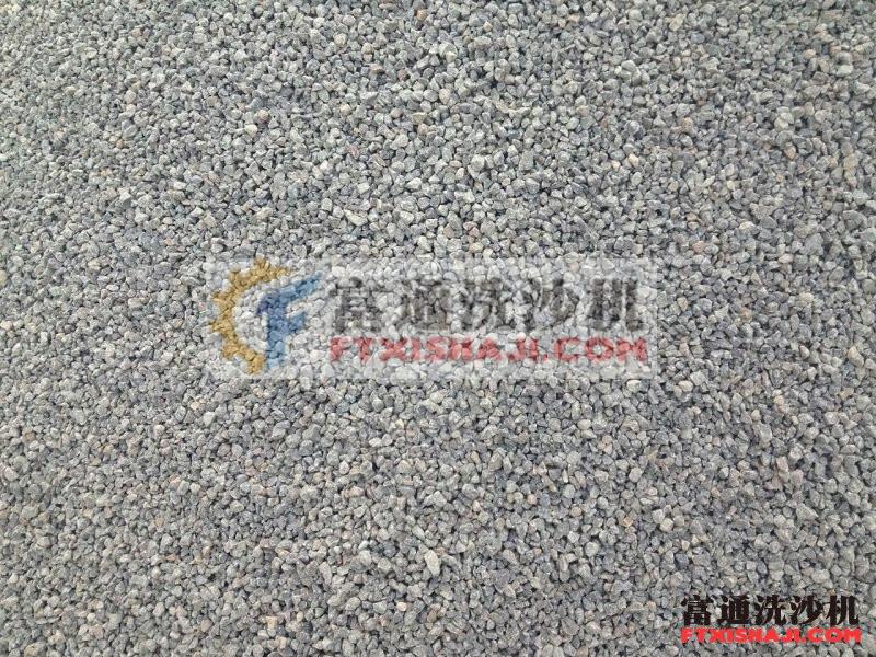 图四:现场生产出来的机制砂颗粒