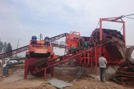 福建漳州洗沙机设备+细沙回收机工作现场