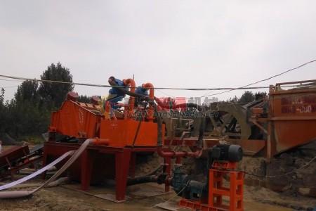 山东肥城洗沙机+细沙回收机现场