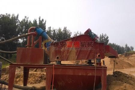 江苏徐州细沙回收机现场