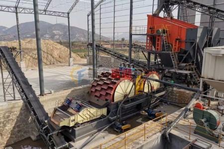 河北石家庄机制砂生产线之洗沙回收脱水一体机