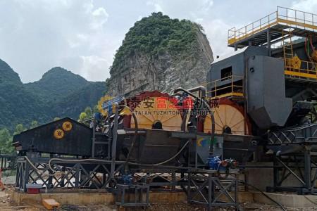 广西客户双轮洗砂机生产线案例