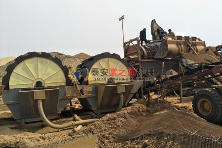 泰安客户洗砂机生产线案例
