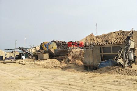 泰安客户使用洗砂机案例展示