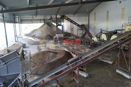 山东客户制砂机生产线展示